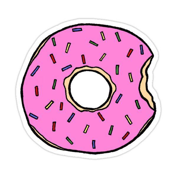 Frosted Donut Sticker By Jennie Clayton In 2021 Happy Stickers Tumblr Stickers Tumblr Png