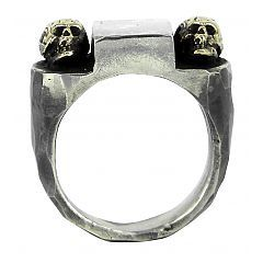 Guardian ring in sterling silver and 9ct gold - $500 at http://www.lordcoconut.com/shop/guardian-ring/
