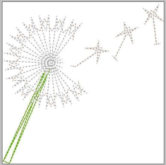 (10) Name: 'Embroidery : String Art Dandelion