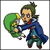 Johnny Depp shaking Link.
