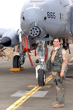Col Martha McSally female pilot in the Air Force.