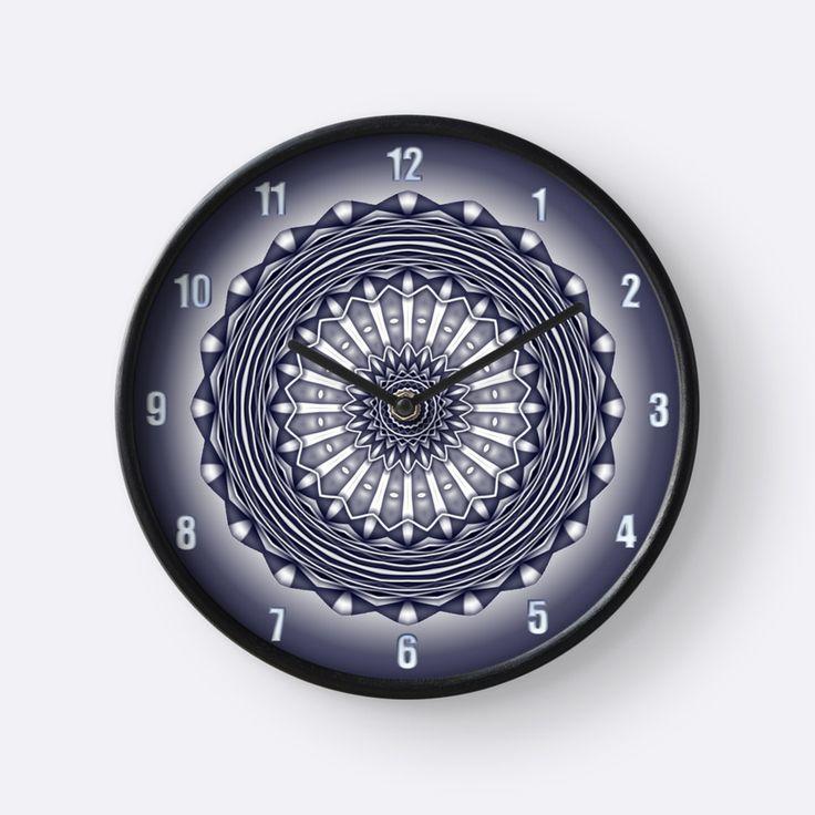 Steel Wheels in Blue-grey Clock by TC-TWS