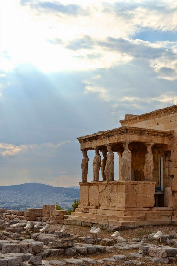 porch of the maidens, athens, greece   travel destinations in europe + ruins #wanderlust