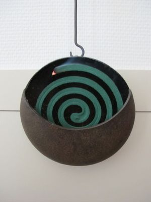 katori-senko, a mosquito repellent coil, is senko with insecticide elements inside, modeled into a spiral shaped to make it last longer.  #japan