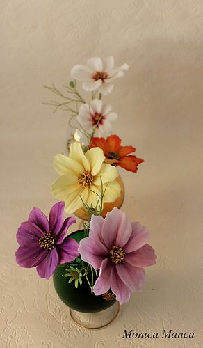 Cosmos sugar flowers