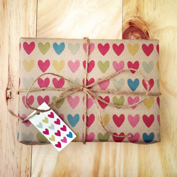 Hearts  Wrapping Paper by ToodlesNoodles on Etsy