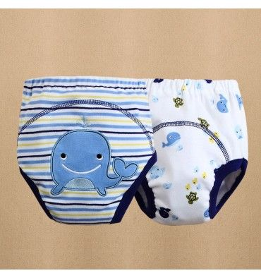 Mom and Bab Potty Training Pants - Blue Whale