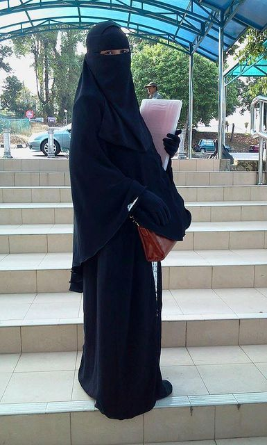 Matching Khimar and Skirt with Single Layer Niqab and Gloves