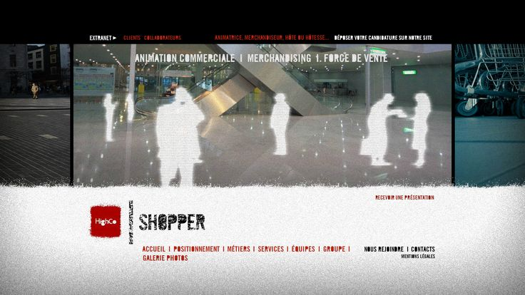Le site de HighCo FIELD MARKETING  (Design/Dev by 76)