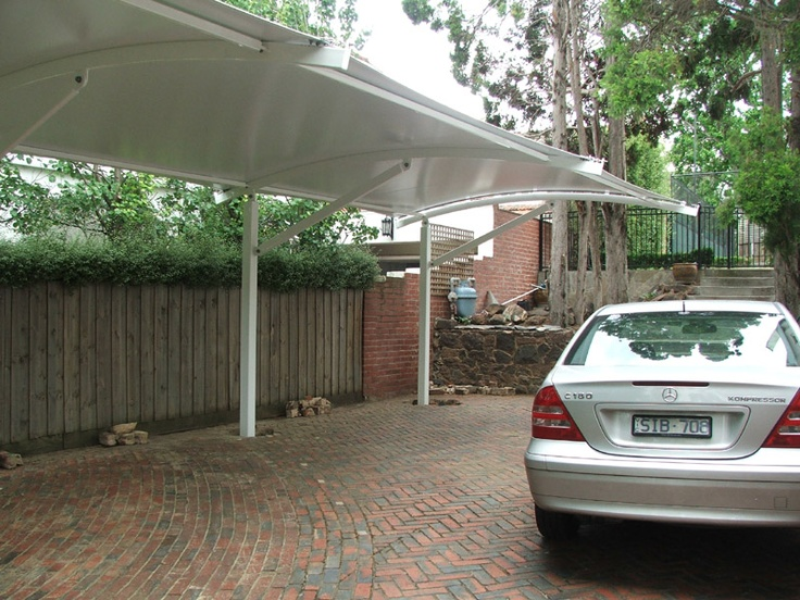 Carpark Shade Sail Structure Maybe In The Driveway