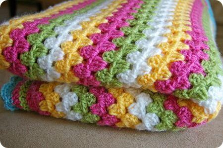 Granny Stripe Crochet Blanket -- crochetingthedayaway.blogspot.com