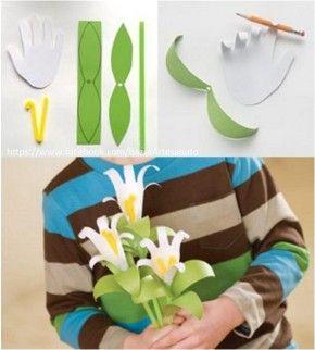 schattige bloemen van handjes