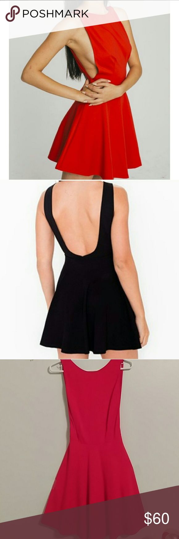 American Appeal side cleavage red hot dress Worn once American Apparel side cleavage dress. American Apparel Dresses
