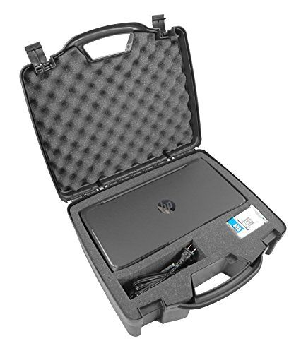 Casematix Portable Printer Carry Case Designed for HP Officejet 200 Wireless Mobile Printer , HP 62 Ink Cartridge and Cables - Also fits Older HP Officejet 150 and 100. Constructed particularly for the HP Oficejet 200 ( CZ993A ) Portable printer with unequivocally shaped defensive froth compartments for printer and, best offer