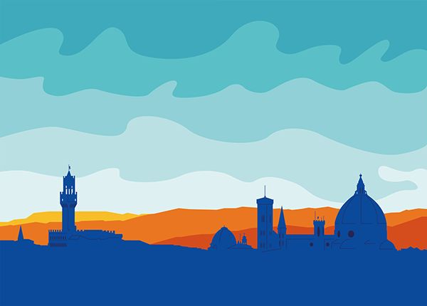 Skyline di Firenze - colori accesi on Behance