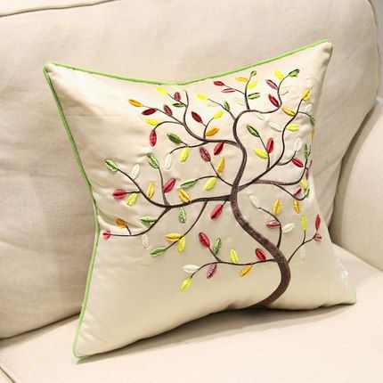 2015 nuevo anuncio algodón de moda bordado cojines, oficina de apoyo lumbar cojines del sofá, ropa de cama por el envío gratis