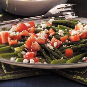 Roasted Asparagus with Feta Recipe from Taste of Home