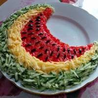 Салат «Арбузная долька»