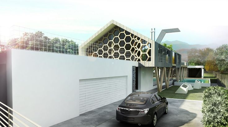 HoneyWood House http://yellowoffice.ro/projects/honeywood #self sustainable house #green building #wood structure #hitech