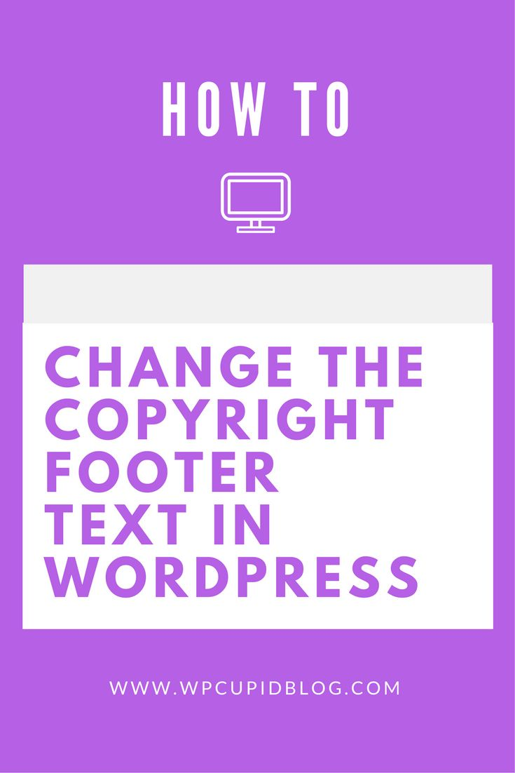 In this article I show you how to change the footer copyright text in WordPress quick and easy. I provided a step by step video tutorial as well.