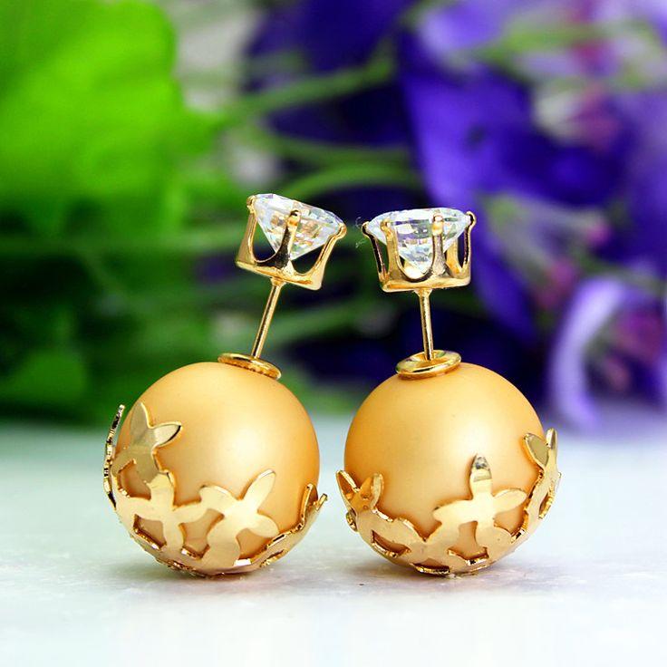 Найти ещё Серьги-гвоздики Сведения о 2015 летний стиль мода марка ювелирных изделий элегантный двухместный жемчужные серьги для женщин позолоченный цветок бусины заявление серьги, высокого качества Серьги-гвоздики из Beauty-Shine Jewelry на Aliexpress.com