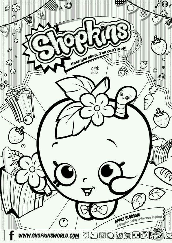 Shopkins Coloring Page Plus Other Fun Party Ideas