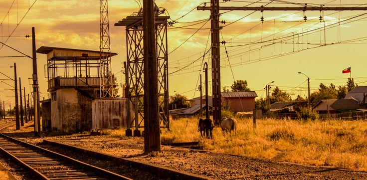 Estación de Trenes de Parral. Foto de Esteban Loyola Méndez.