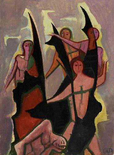 Karl Hofer - Fünf Knaben (1954)
