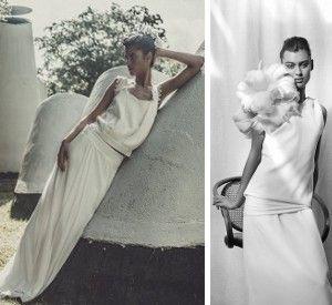 » {Look de mariée} 10 robes fluides taille basse