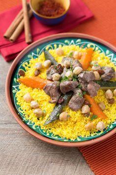Cous cous alla marocchina: un classico della cucina Nordafricana, declinato in una versione molto sprint ma buonissima.  Moroccan cous cous