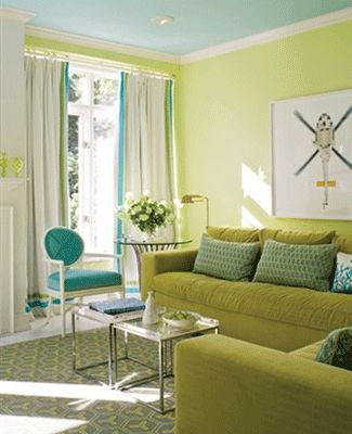17 best images about redecorating inside on pinterest Light green living room ideas