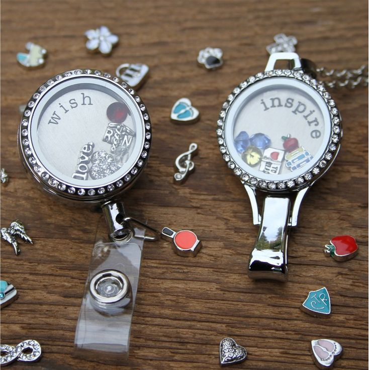 Memory Locket ID Badge Holder...Tell Your Story at Work!! | Jane