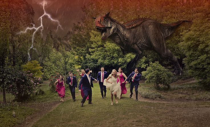 Dinosaurs are coming. RUN!!! Andy & Lee, Gippsland #weddingphotography #gippslandweddingphotographer #gippslandweddings #weddingphotographygippsland