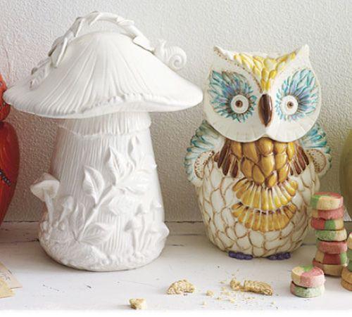 Cute: Owl Cookie Jars, Anthropology Com, 29 Photo, Owl Cookies Jars, Anthropology Catalog, Owl Decor, Products, Owl Everything 3, Mushrooms