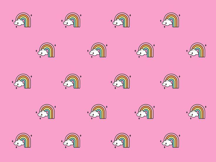 Wallpaper Rosa Arco-íris Imaginarium. #wallpaper #imaginarium #fundesign #forhome #criativedesign #arco-iris #pink