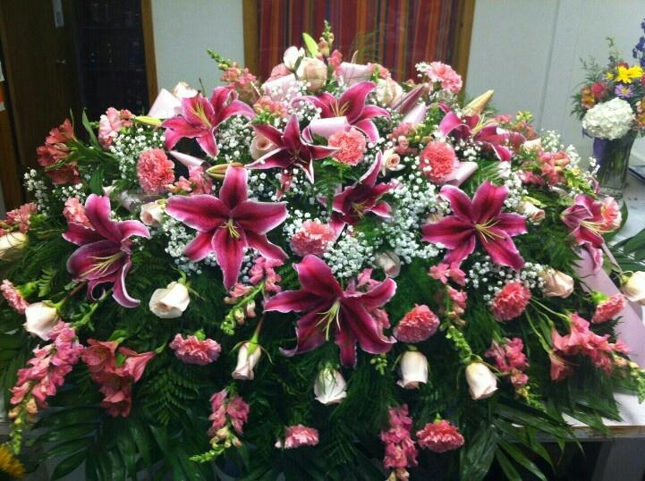 Pink snaps, pale pink roses, dark pink lilies, pink ...