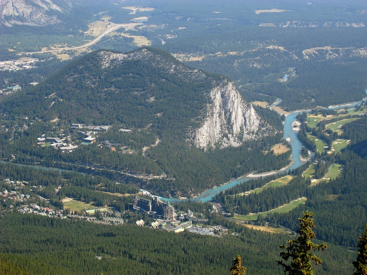 View from Sulpher Mountain in Banff
