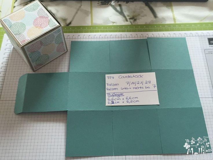 Stampin Up, Anleitung, Viereckige Box, One Sheet Box (1) (Kopie)