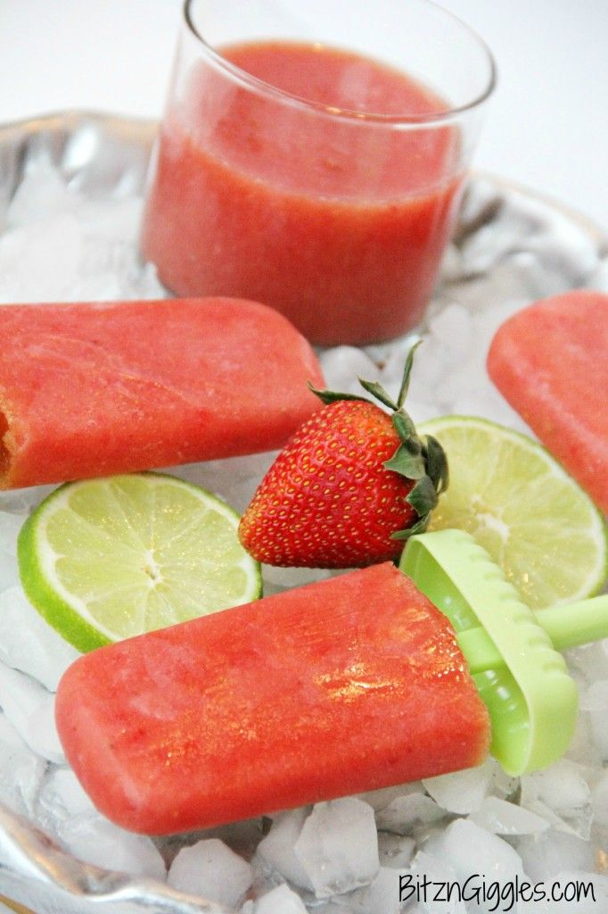 Agua Fresca Popsicles - Made with fresh fruit, sugar and a squeeze of lime, this recipe turns Agua Fresca into cool, refreshing pops the whole family can enjoy! {BitznGiggles.com}