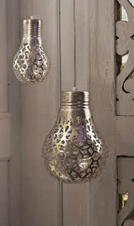 These Metallic Lights are Easily Made Using a Doily #lighting #lightfixture trendhunter.com