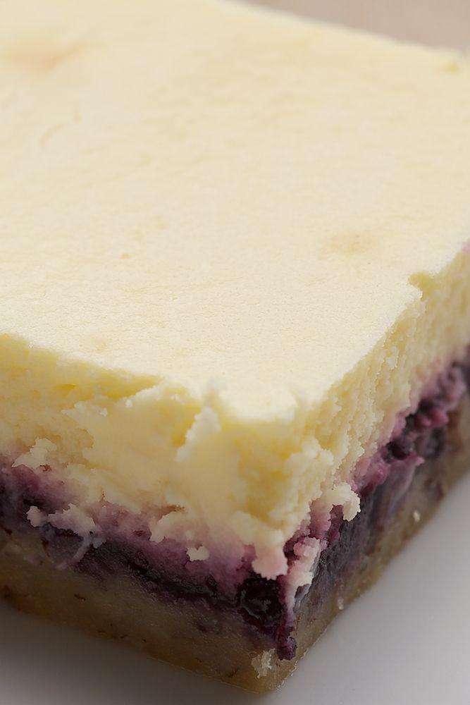 Lemon, blueberry cheesecake bars. Don't these look wonderful?