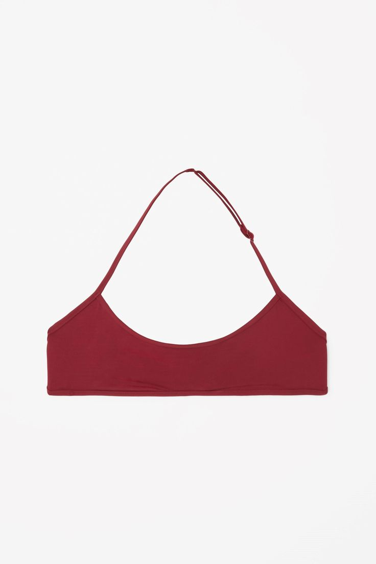 COS image 1 of Bikini top with binding in Cherry