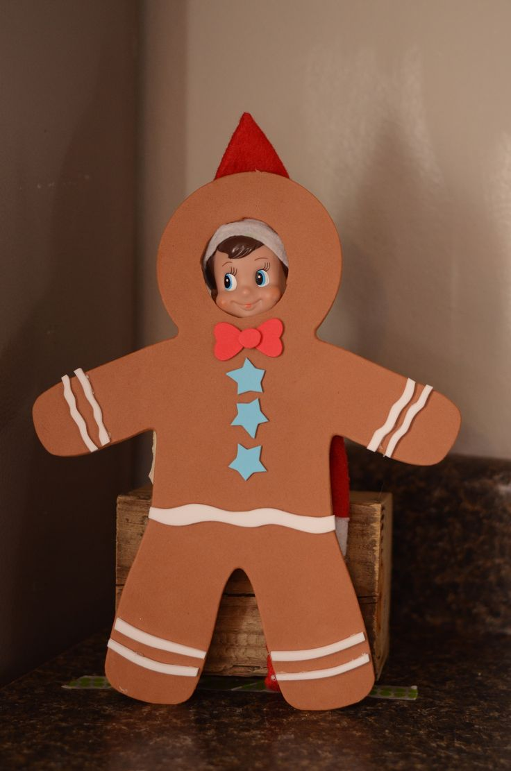 Gingerbread Man photo op. Perfect for our elf who is named Gingerbread!