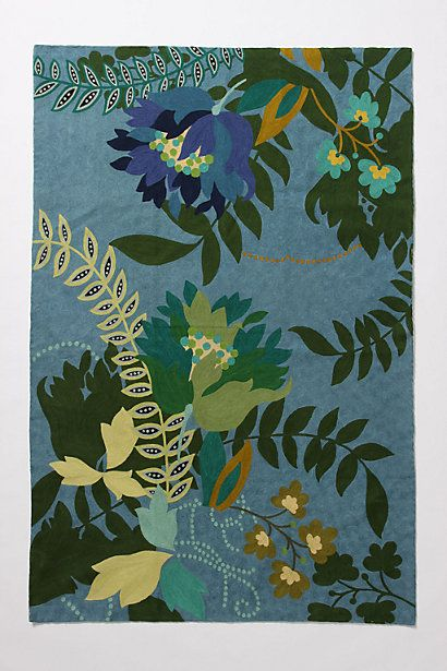 Finnia Rug #anthropologie: Pattern, Blue, Color, Green, Living Room, Finnia Rug, Anthropologie Rug, Rugs