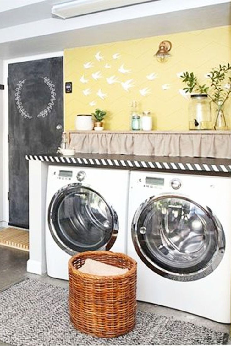 Garage Laundry Area DIY Ideas - Laundry Nook In Garage - Garage Laundry Nook Ideas - convert part of garage into laundry room nook