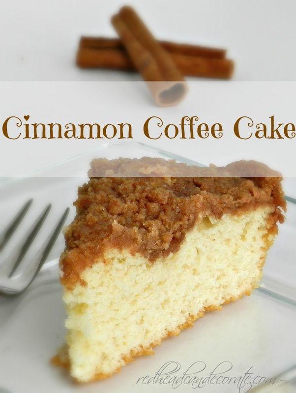 Low Fat Cinnamon Coffee Cake Recipe (It's still one of my family's favorite)