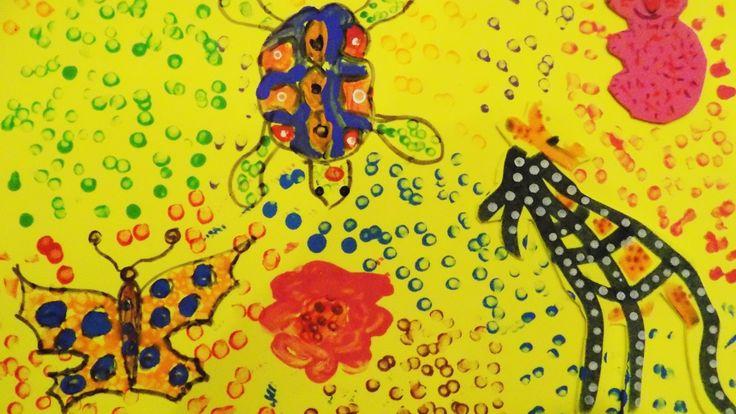 Peinture coton tige Art à la manière de
