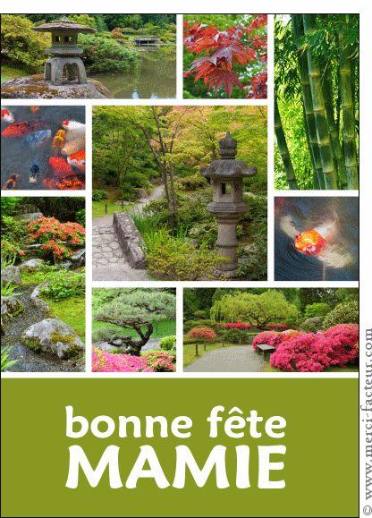 Carte Bonne fête mamie jardin japonais pour envoyer par La Poste, sur Merci-Facteur !
