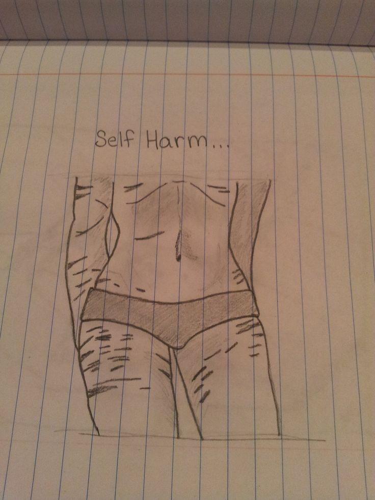 self harm drawings tumblr - Google Search