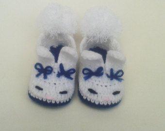 Witte laarsjes, schoenen jongen en meisjes, konijn, blauw konijn laarsjes
